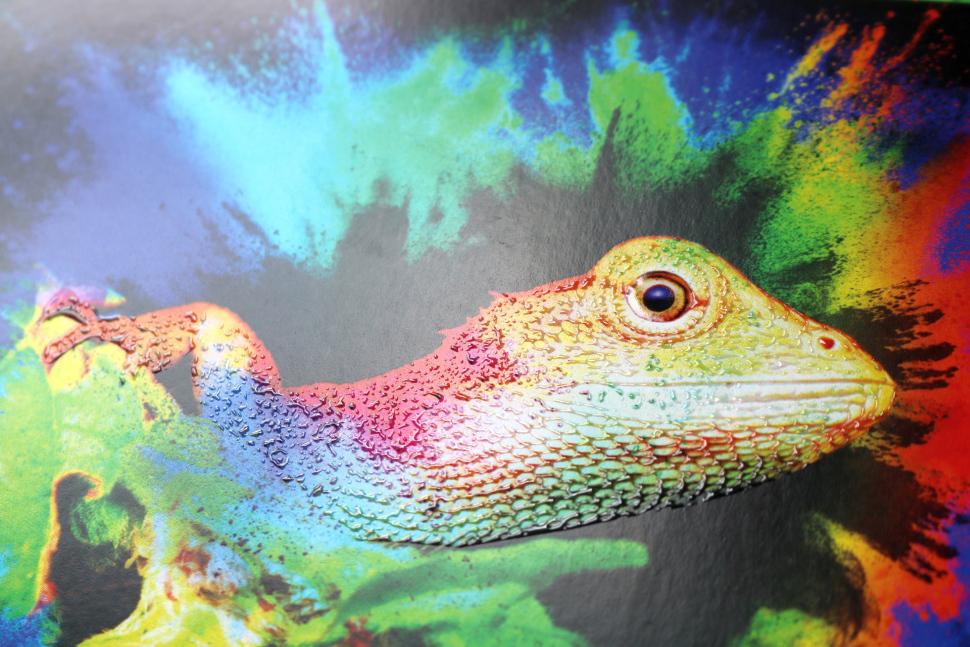 Efekt lakierowania wybiórczego inkjet UV